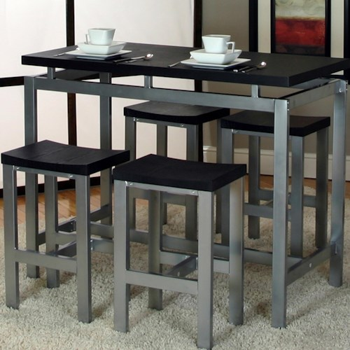 Cramco, Inc Star 5 Piece Pub Table and Chair Set