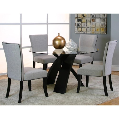 Cramco, Inc Sumner 25699 5 Piece Dinner and Chair Set