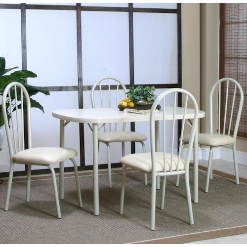 Cramco, Inc Tawny 5 Piece Dining Leg Table and Side Chair Set