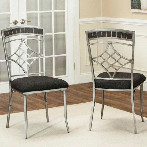 Cramco, Inc Triumph Pewter and Marble Dining Side Chair