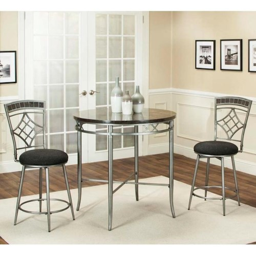 Cramco, Inc Triumph 3 Piece Counter Height Dining Set