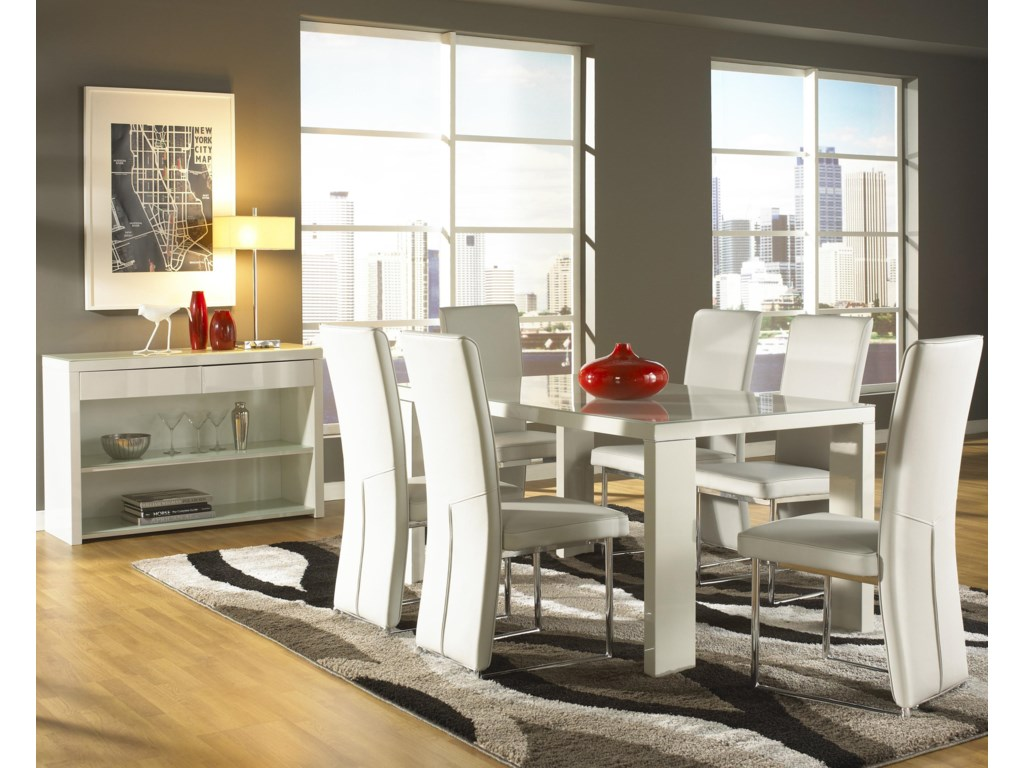Shown in Room Setting with Side Chairs and Sideboard