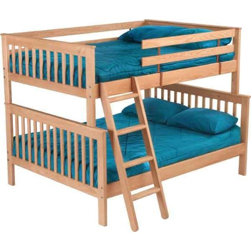 Crate Designs Pine Bedroom Mission Style Double Over Queen Bunk Bed Jordan 39 S Home Furnishings