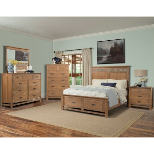Cresent Fine Furniture Camden Queen Bedroom Group 2