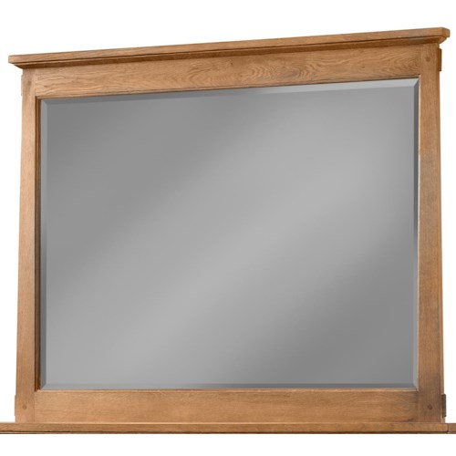 Cresent Fine Furniture Camden Mirror with Solid Oak Frame
