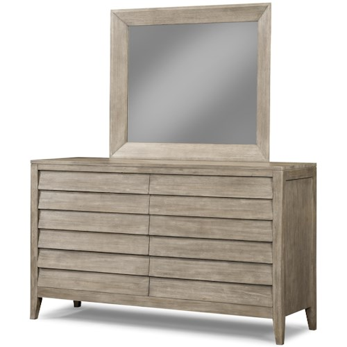 Cresent Fine Furniture Corliss Landing Dresser & Mirror