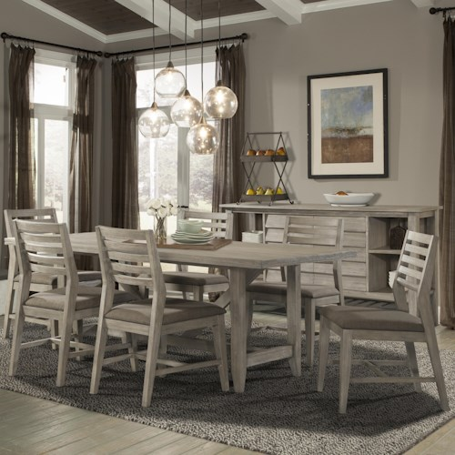 Cresent Fine Furniture Corliss Landing 7 PC Table & Chair Set