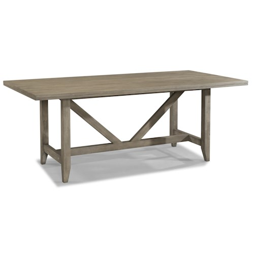Cresent Fine Furniture Corliss Landing Contemporary Trestle Dining Table