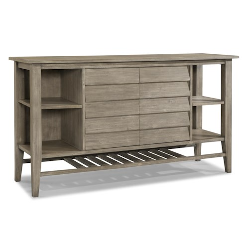 Cresent Fine Furniture Corliss Landing WeatheredTwo Door Sideboard