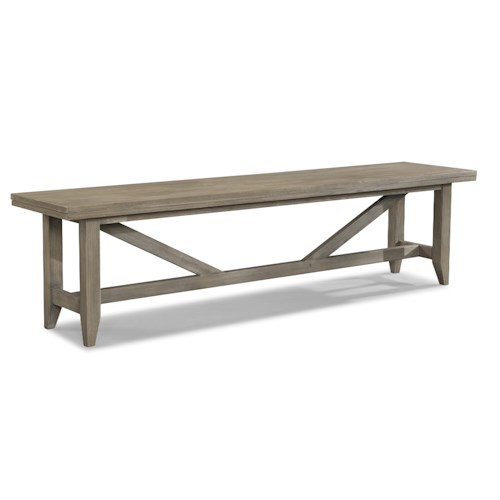 Cresent Fine Furniture Corliss Landing Long Weathered Dining Bench