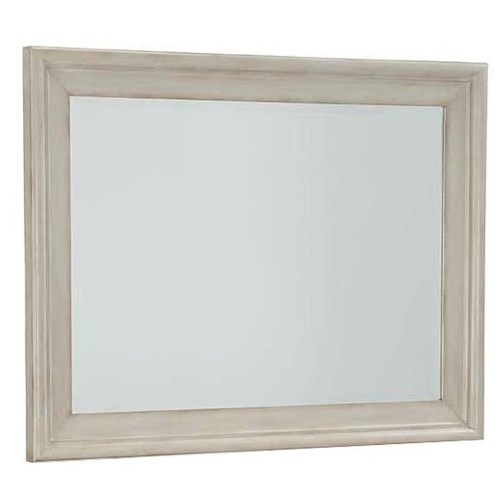 Cresent Fine Furniture Cottage Antique White Mirror w/ Wide Frame