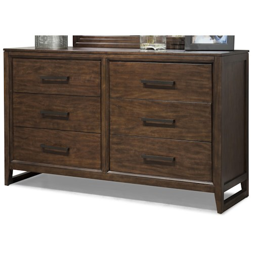 Cresent Fine Furniture Mercer Contemporary Low 6 Drawer Dresser
