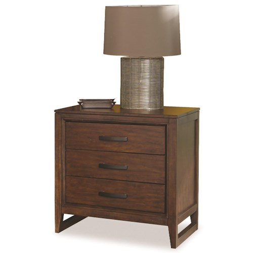 Cresent Fine Furniture Mercer Contemporary Nightstand w/ Beveled Framing