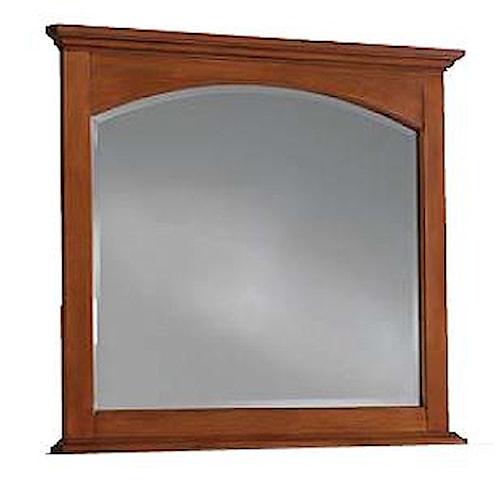 Cresent Fine Furniture Cresent Classics - Modern Shaker Beveled Plate Landscape Mirror