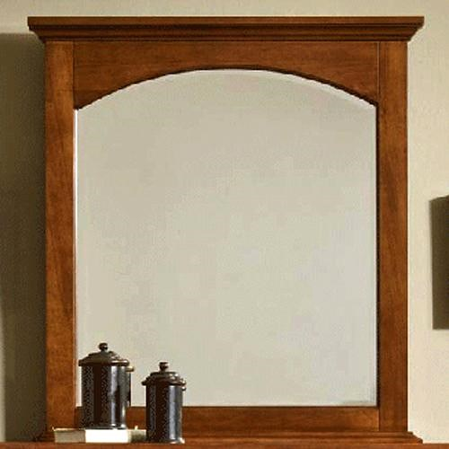 Cresent Fine Furniture Cresent Classics - Modern Shaker Small Shaker-Style Mirror with Arched Top