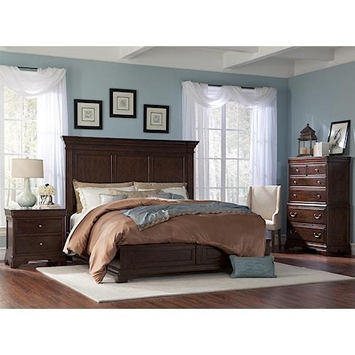 Cresent Fine Furniture Provence King Bedroom Group 1