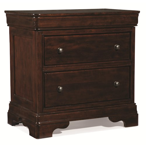 Cresent Fine Furniture Provence 2 Drawer Nightstand w/ Power