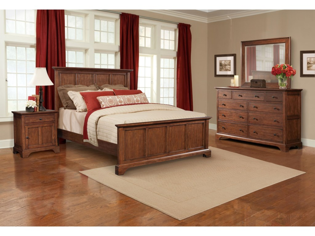 Shown with Panel Bed in Room Setting