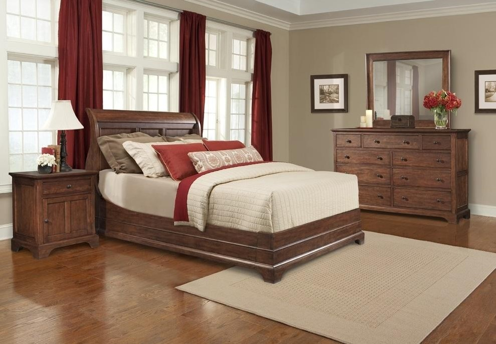 Shown with Nightstand, Sleigh Bed, & Mirror