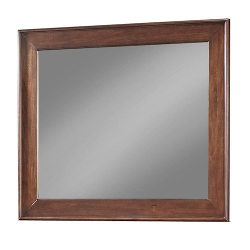 Cresent Fine Furniture Retreat Cherry Solid Cherry Framed Landscape Mirror