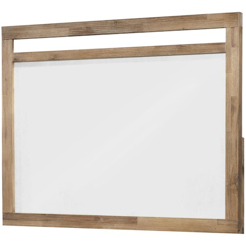 Cresent Fine Furniture Waverly Simple & Chic Acacia Wood-Framed Landscape Mirror