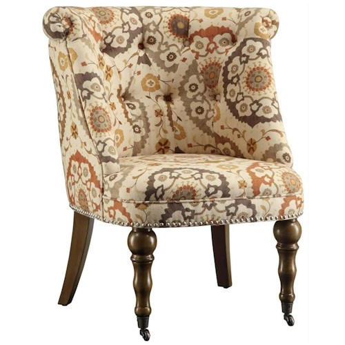 Crestview Collection Accent Furniture Hutchison Pattern Fabric Chair