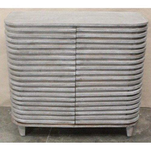 Crestview Collection Accent Furniture Bengal Manor Mango Wood Curved Slat Cabinet