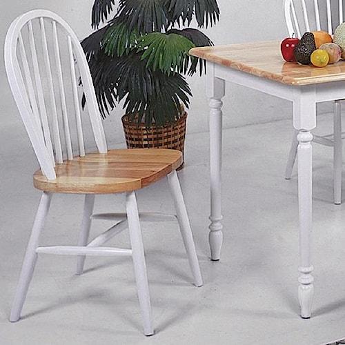 Crown Mark Farmhouse Dining Slat Back Side Chair