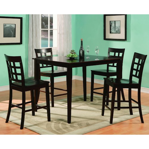 Crown Mark Austin 5 Piece Counter Height Leg Table & Chair Set