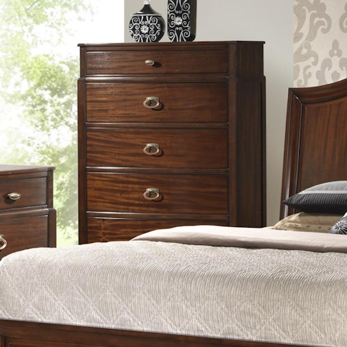 Crown Mark Alma  Transitional 6 Drawer Chest