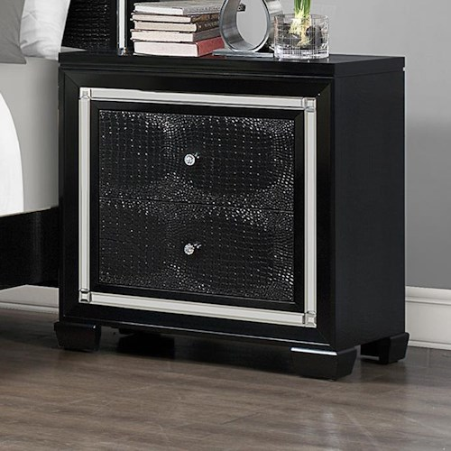 Crown Mark Aria 2 Drawer Night Stand