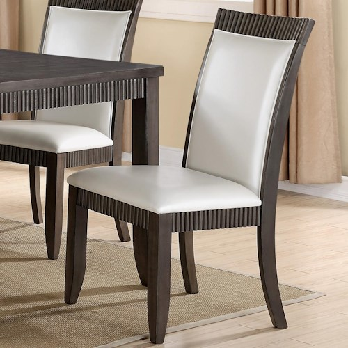 Crown Mark Ariana White Upholstered Dining Side Chair