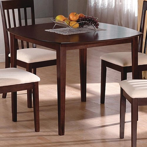 Crown Mark Ashland Square Kitchen Leg Table