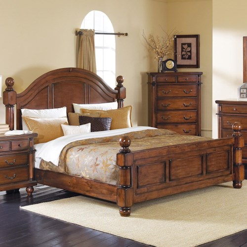 Crown Mark Augusta King Headboard & Footboard Bed