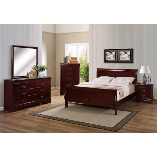 Crown Mark B3800 Louis Phillipe King Bedroom Group