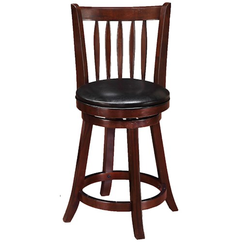 Crown Mark Bar Stools Transitional Low Swivel Chair