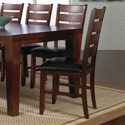 Crown Mark Bardstown Side Chair with Upholstered Seat