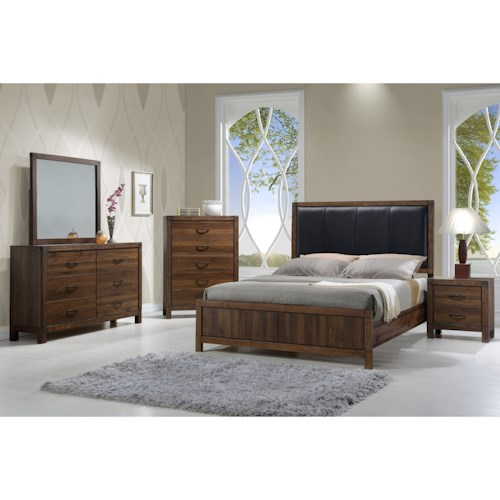 Crown Mark Belmont King Bedroom Group