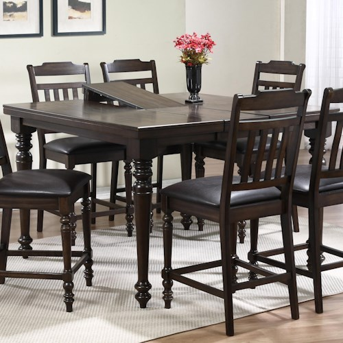 Crown Mark Brayden Counter Height Table with 12
