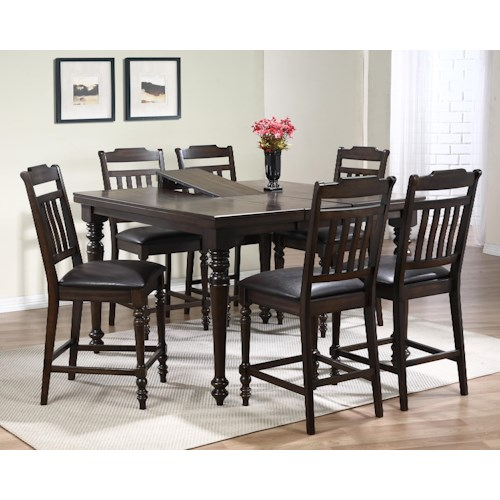Crown Mark Brayden Counter Height Table and Chair Set 12