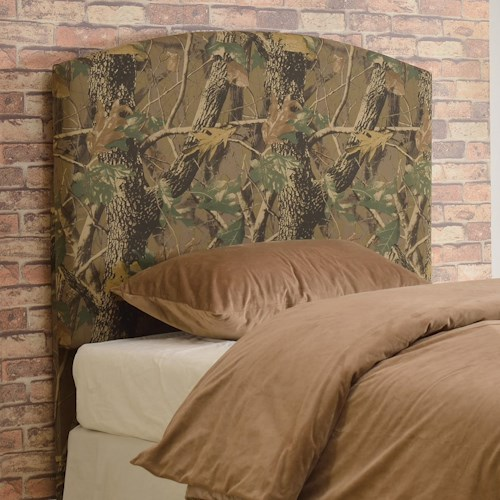 Crown Mark Browning Camouflage Twin Headboard