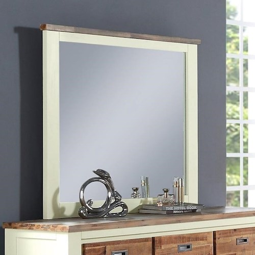 Crown Mark Buckley Two-Toned Dresser Mirror