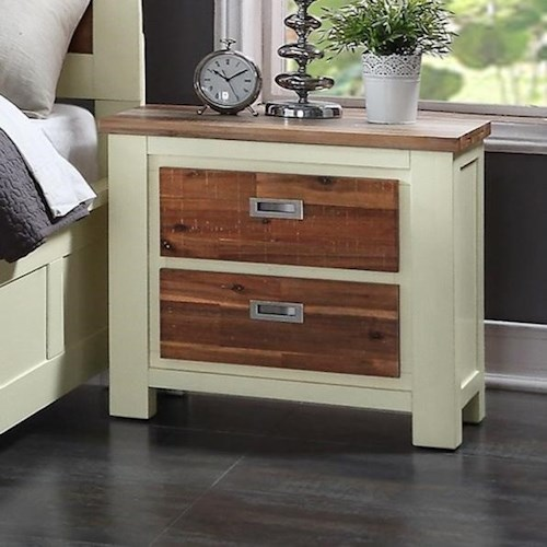 Crown Mark Buckley Night Stand with Two-Toned Finish