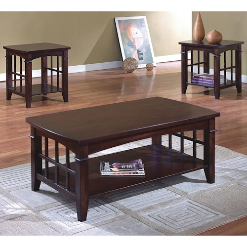 Crown Mark Camino 3 Pack Cocktail and End Tables Set