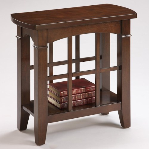 Crown Mark Camino Chairside Table with Lower Shelf