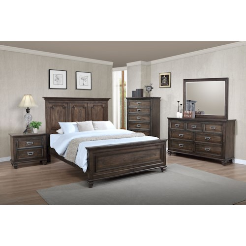 Crown Mark Campbell Queen Bedroom Group