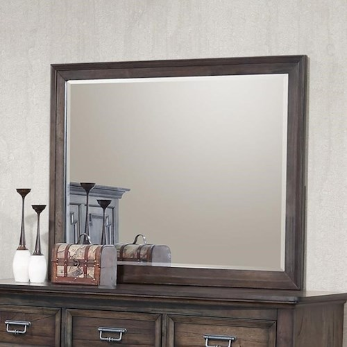Crown Mark Campbell Dresser Mirror with Beveled Frame