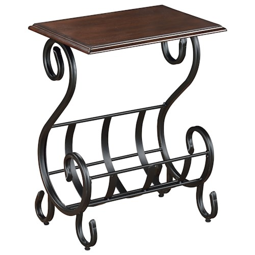 Crown Mark Chairside Tables Willa Chairside Table with Magazine Rack