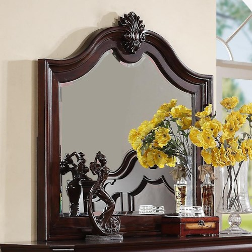 Crown Mark Charlotte Mirror with Decorative Molding