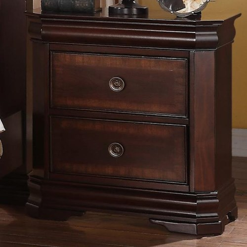 Crown Mark Charlotte 2 Drawer Night Stand